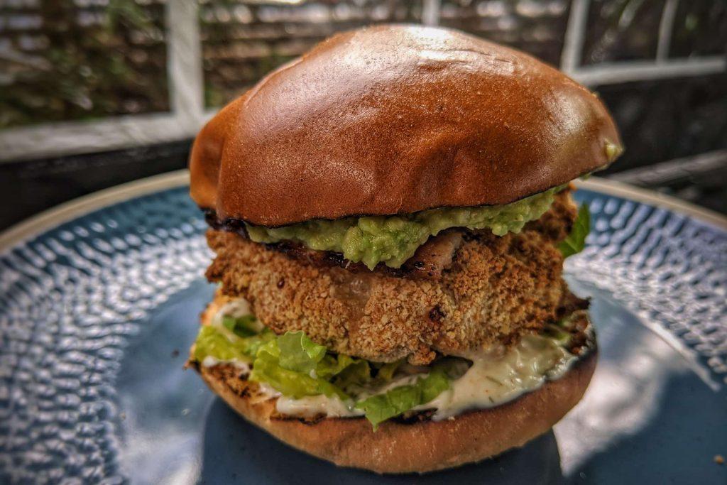 Crispy Chicken Avocado and Bacon Burger