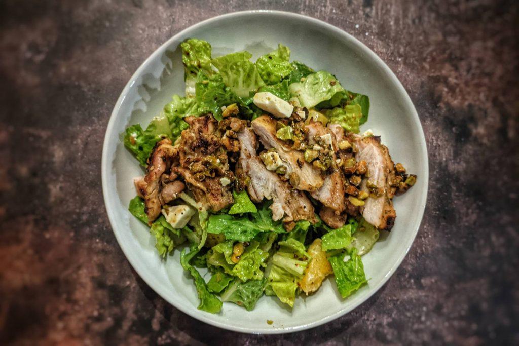 Orange Chicken and Pistachio Salad