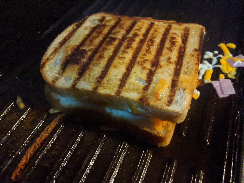 BBQ Toasted Sandwich Cooking