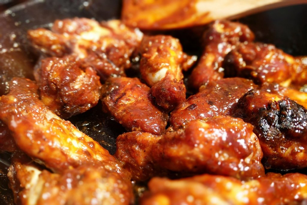 Glazing the Chicken Wings
