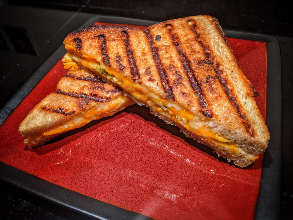 Cooked BBQ Toasted Sandwich
