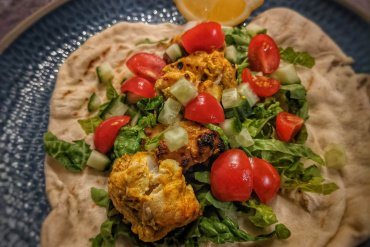 Indian Inspired Monkfish Kebab