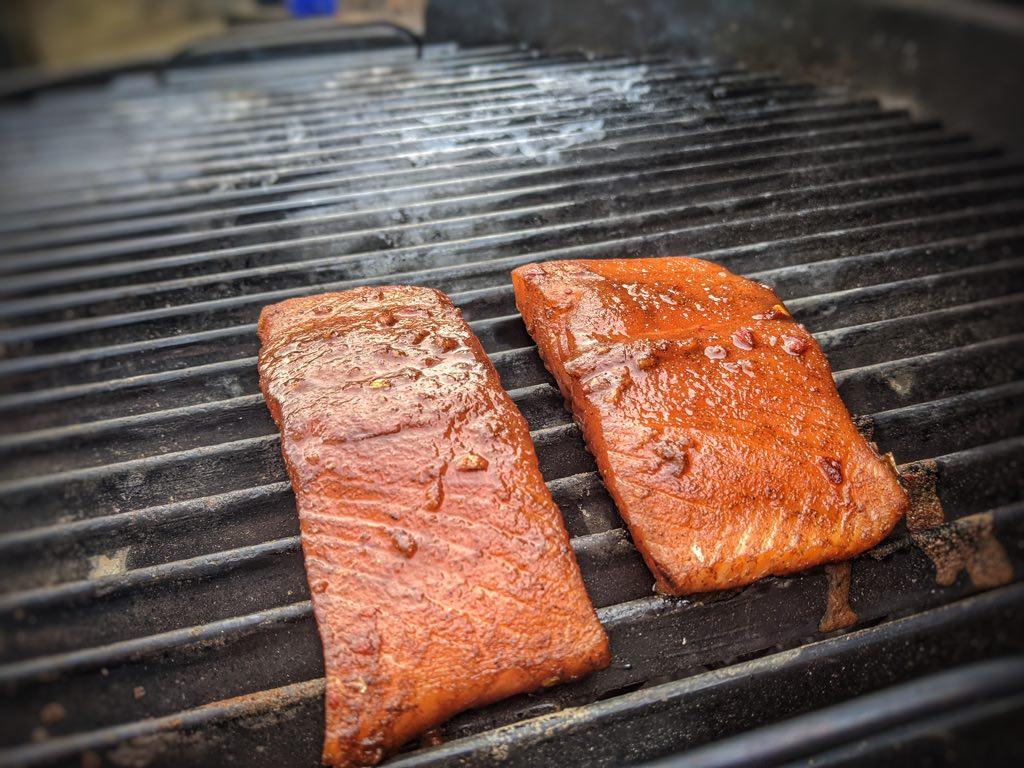 Orange Glazed Salmon Cooking