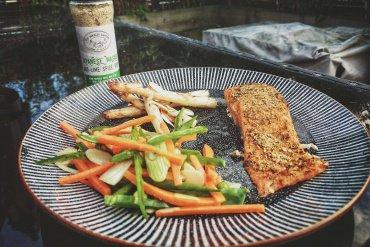 Cooked Wasabi Salmon