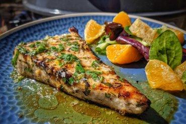 Grilled Swordfish Salmoriglio