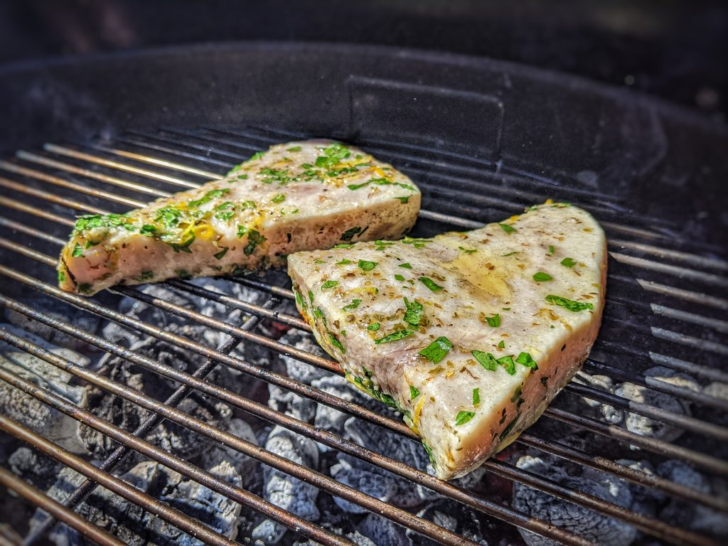 Swordfish on the grill