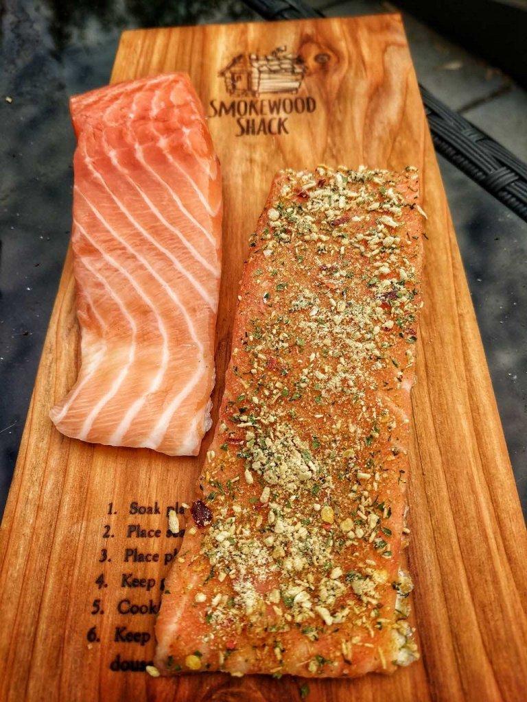 Uncooked Wasabi Salmon
