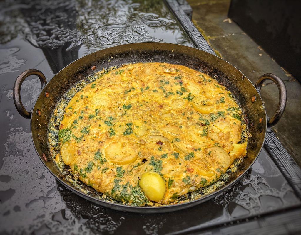 Spanish Tortilla in the Steel Skillet