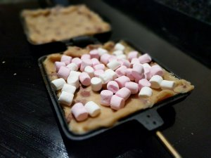 Marshmallows on Uncooked Cookie Dough