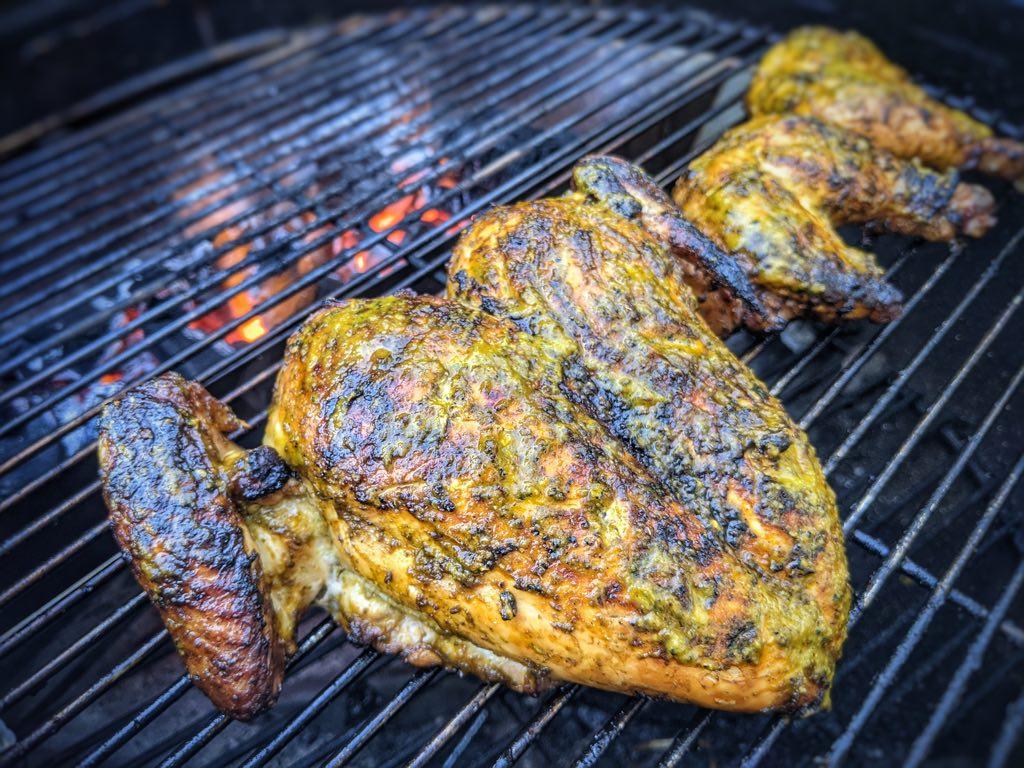 Piri Piri Chicken Cooking