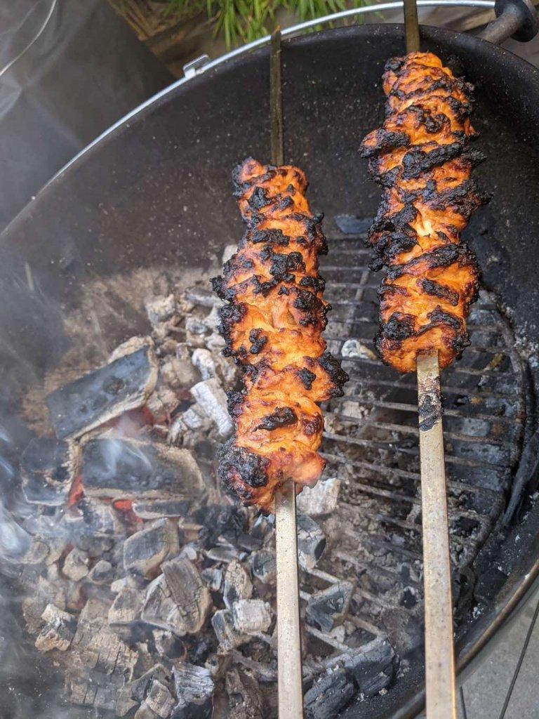 Tandoori Chicken Skewer Cooking