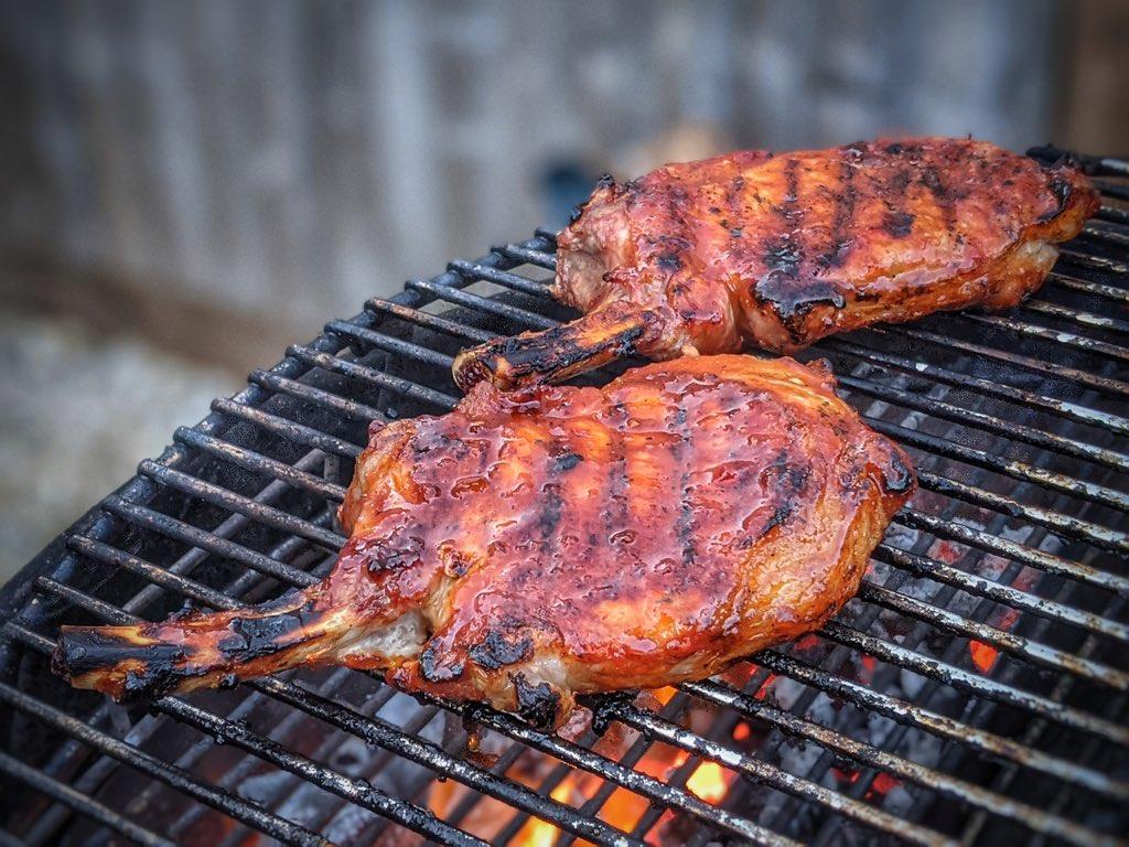 Iberico Bellota Pork Chops Cooking